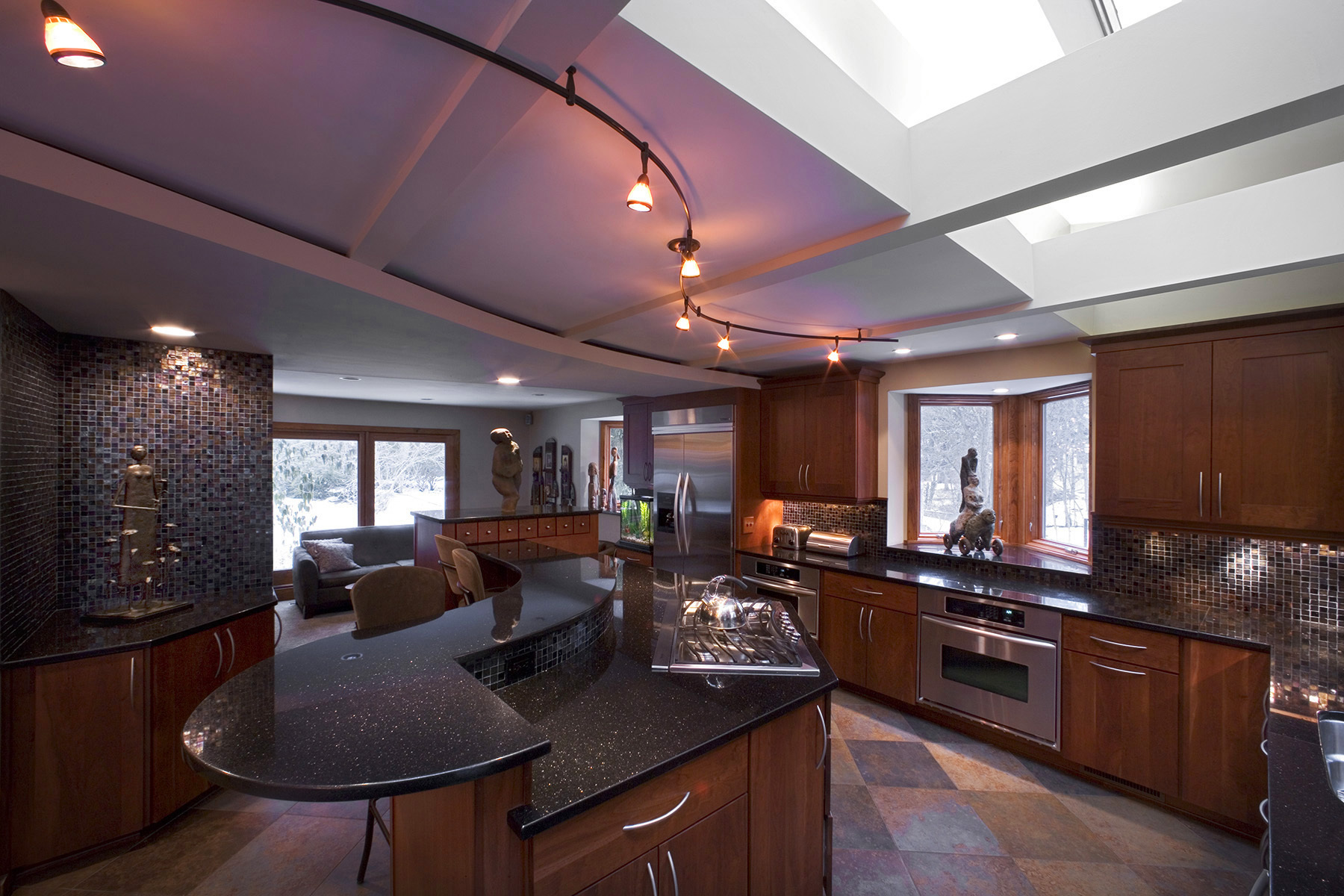 Cincinnati residence kitchen featuring Woodharbor Cabinetry