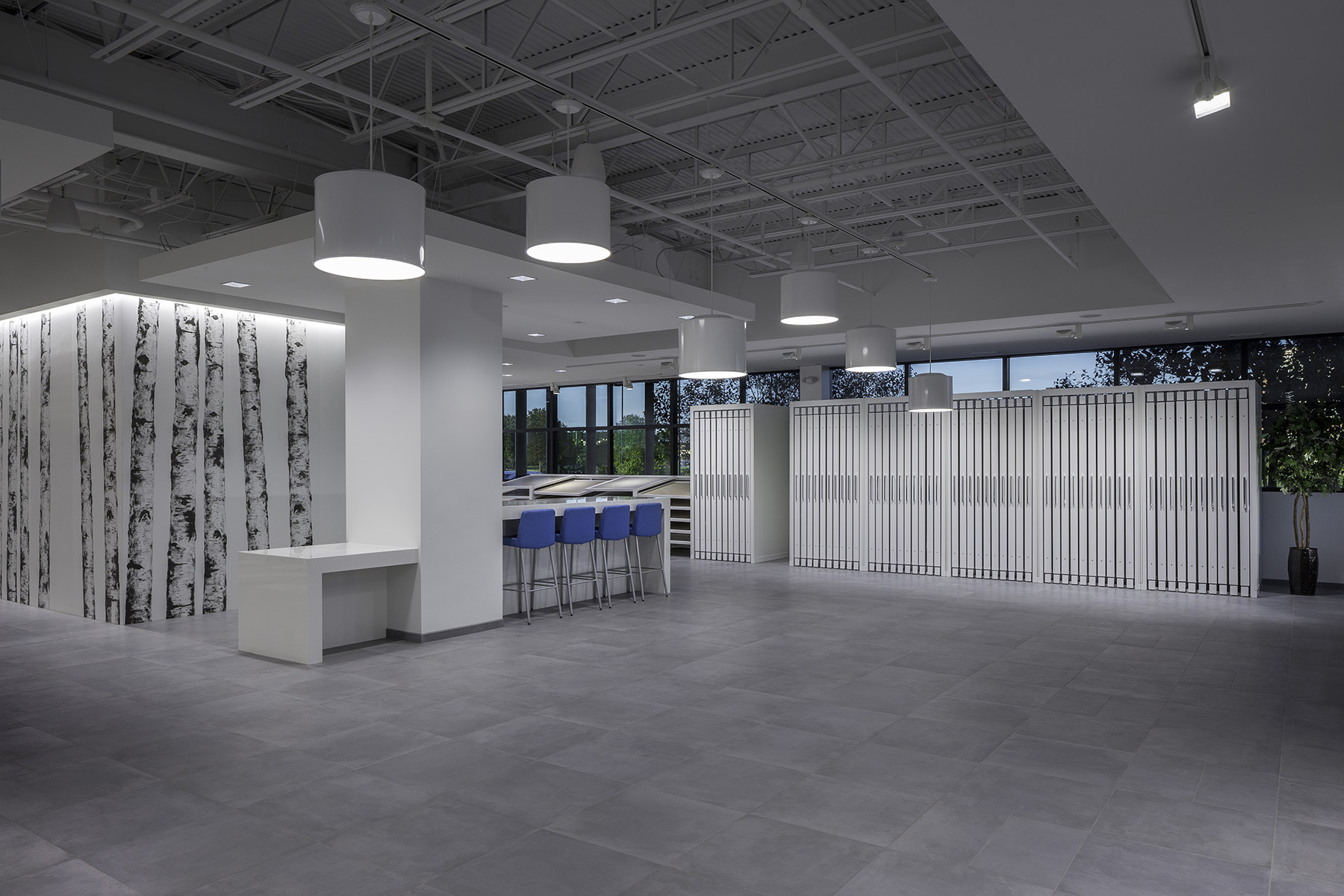 open event space at Florida Tile showroom