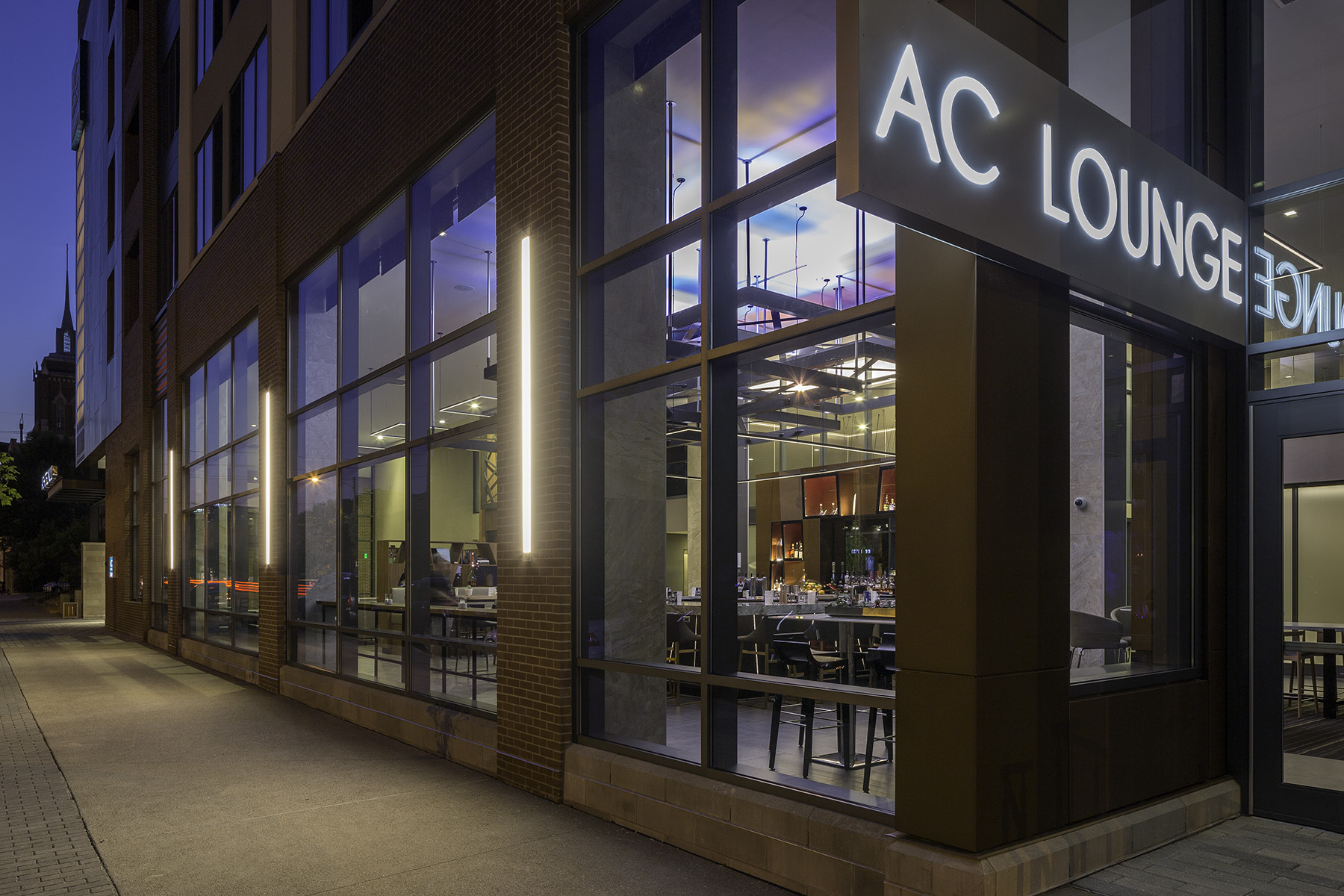 Street entrance to AC Lounge in Louisville