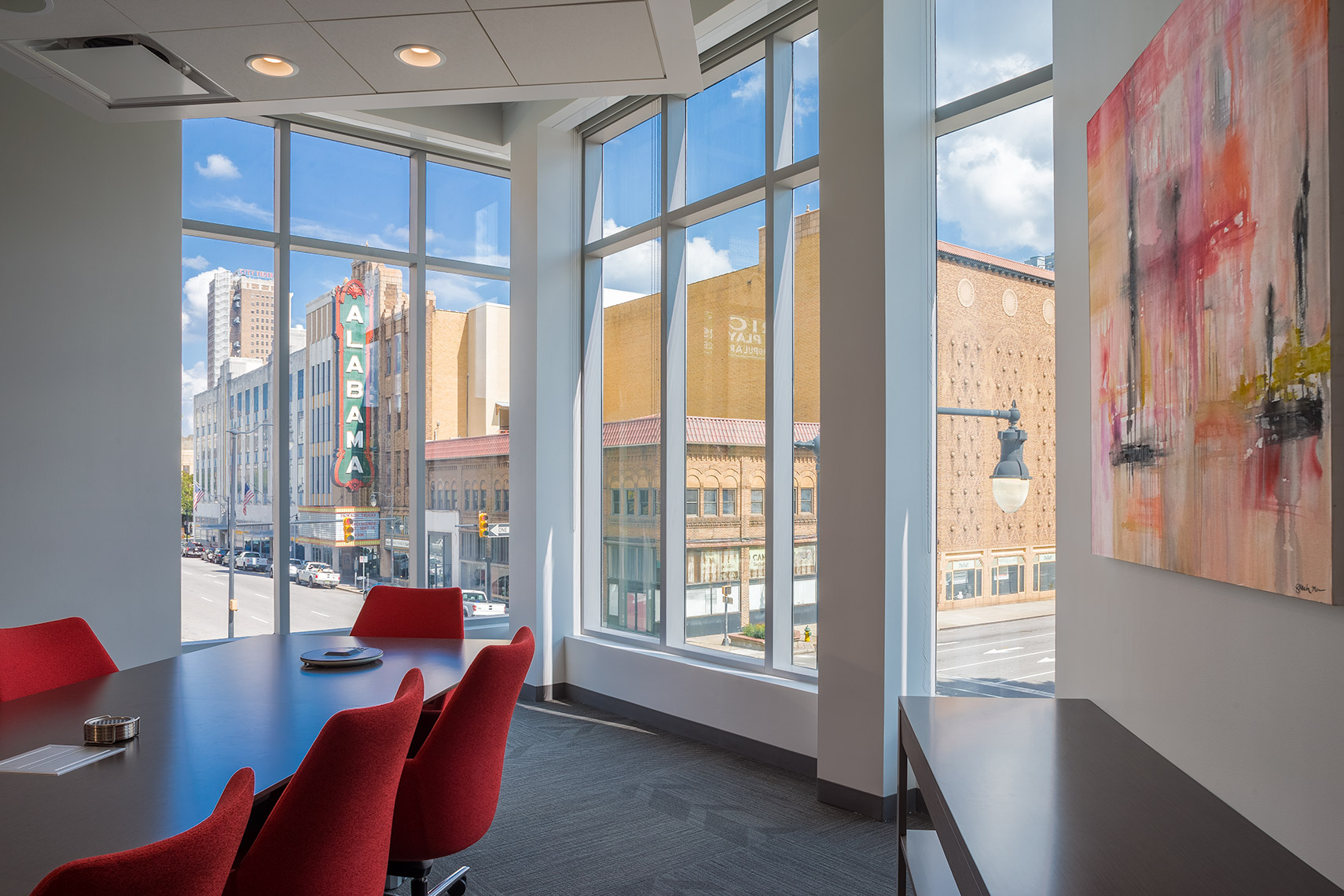 Meeting Room with city view at Corporate Office Renovation Birmingham