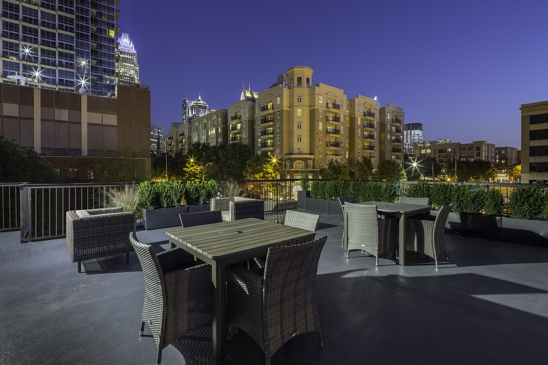 Rooftop event space for Charlotte, NC corporate office