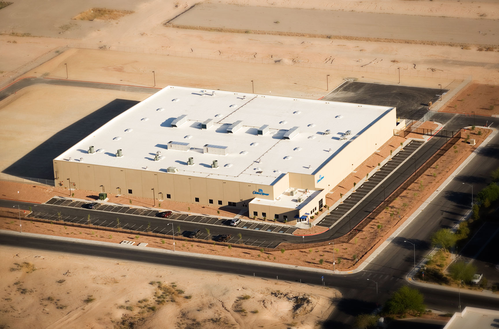 Aerial view of Chelten House Foods in Las Vegas