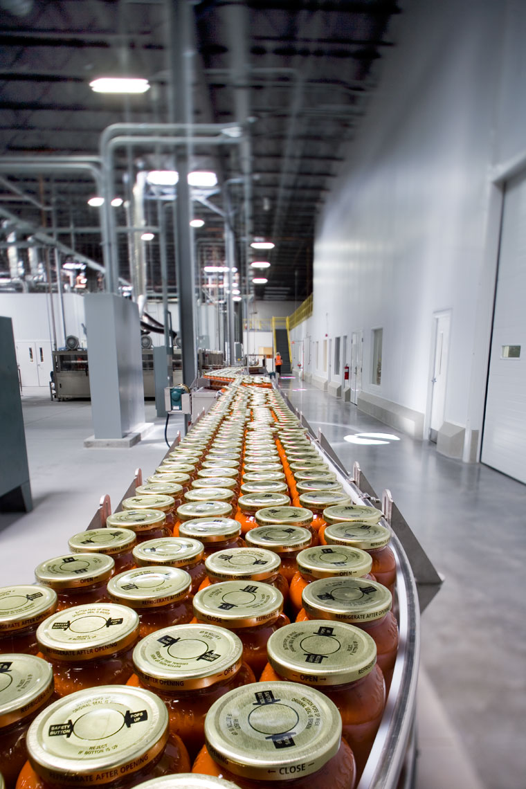 Packaging line at Chelten House Foods in Las Vegas