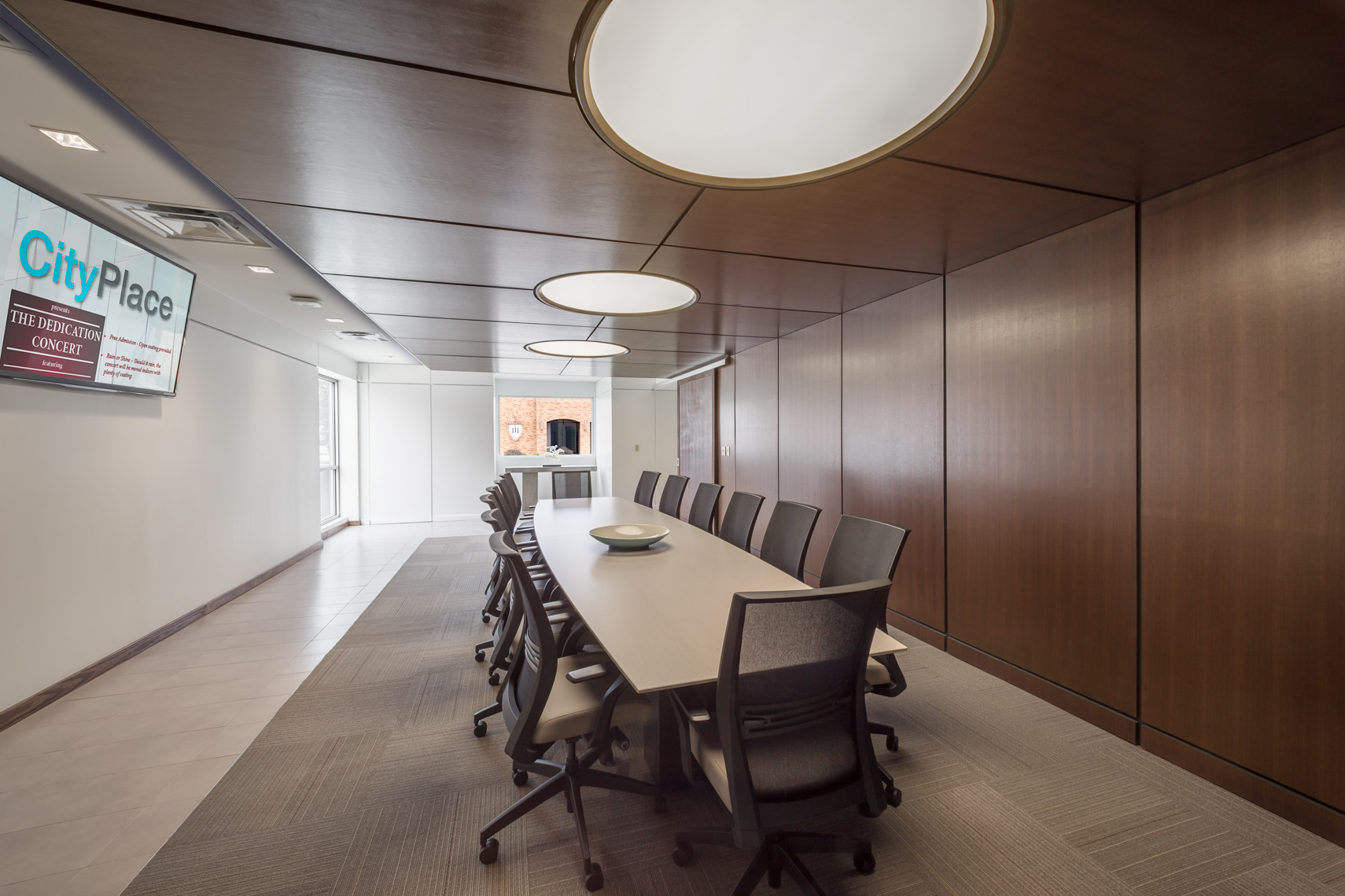 Large paneled conference room at CityPlace Visitor