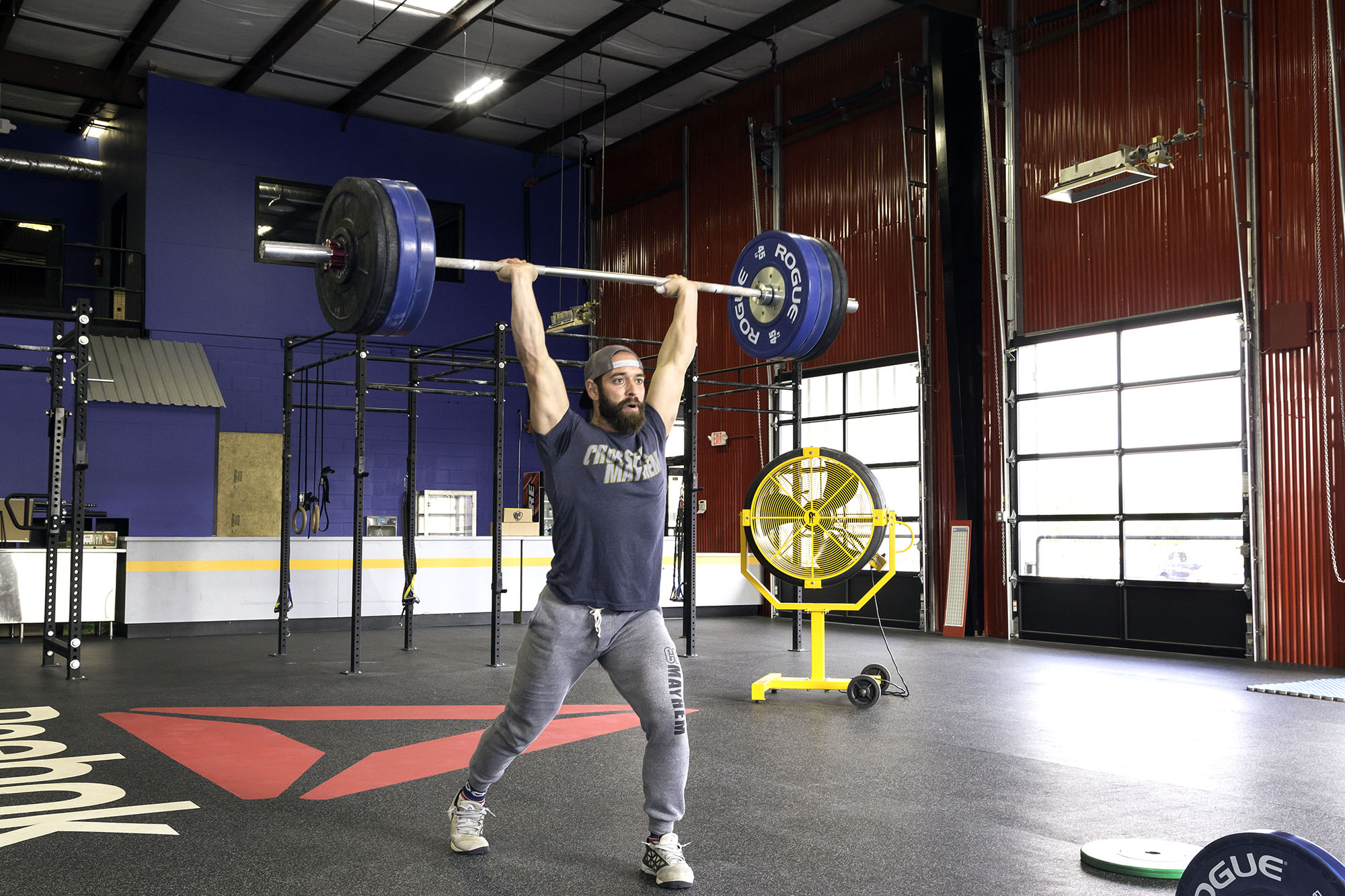 rich froning working out at crossfit mayhem