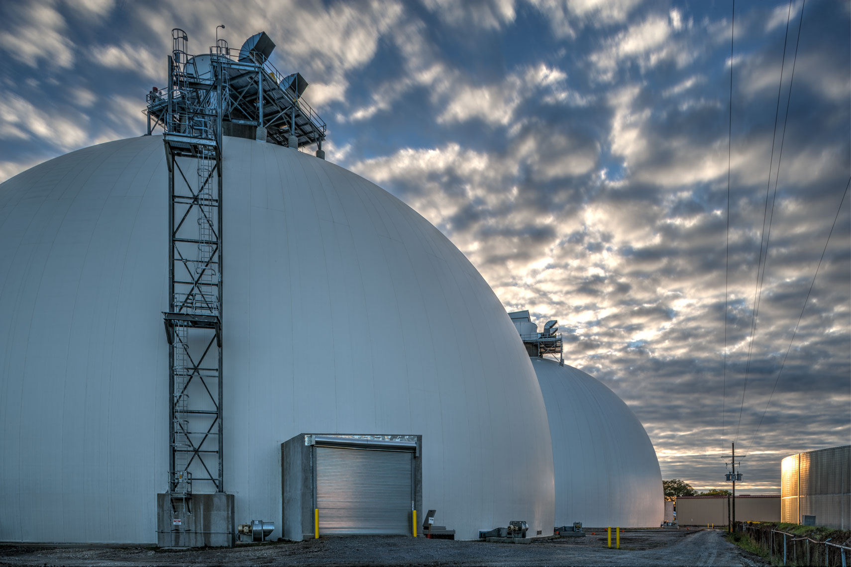 Process material domes at Drax Biomass