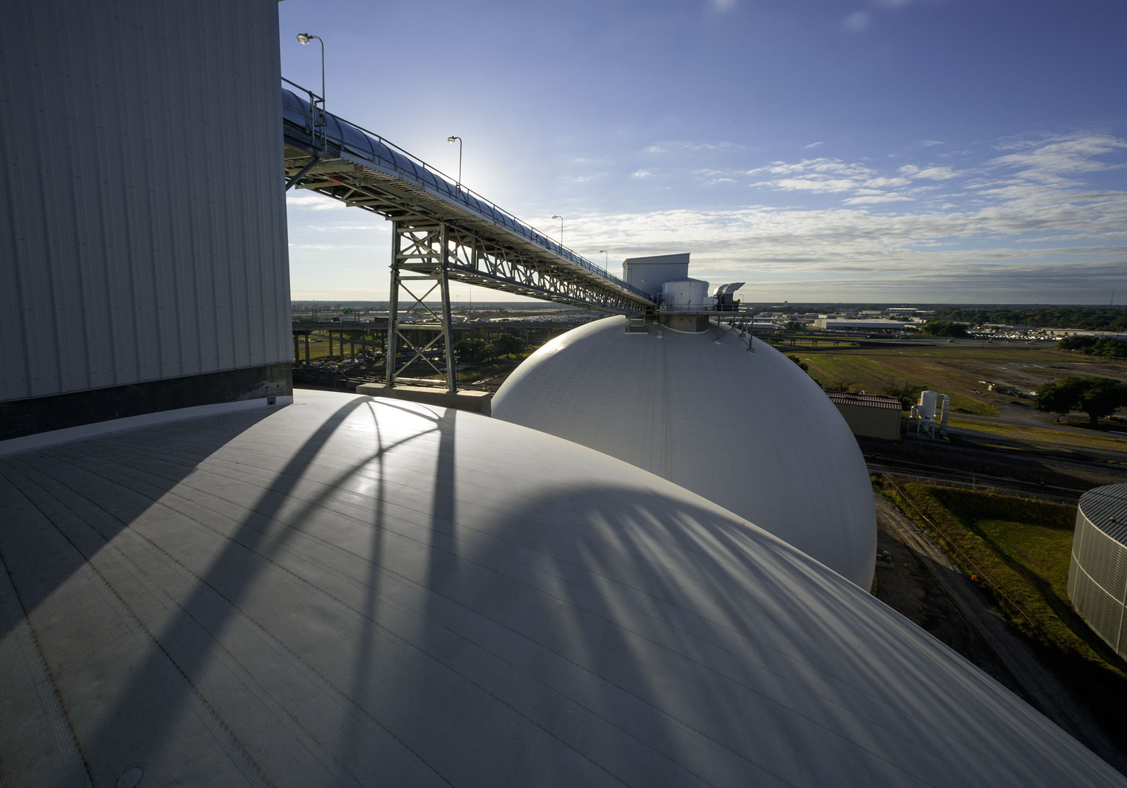 dome top view of Drax Biomass