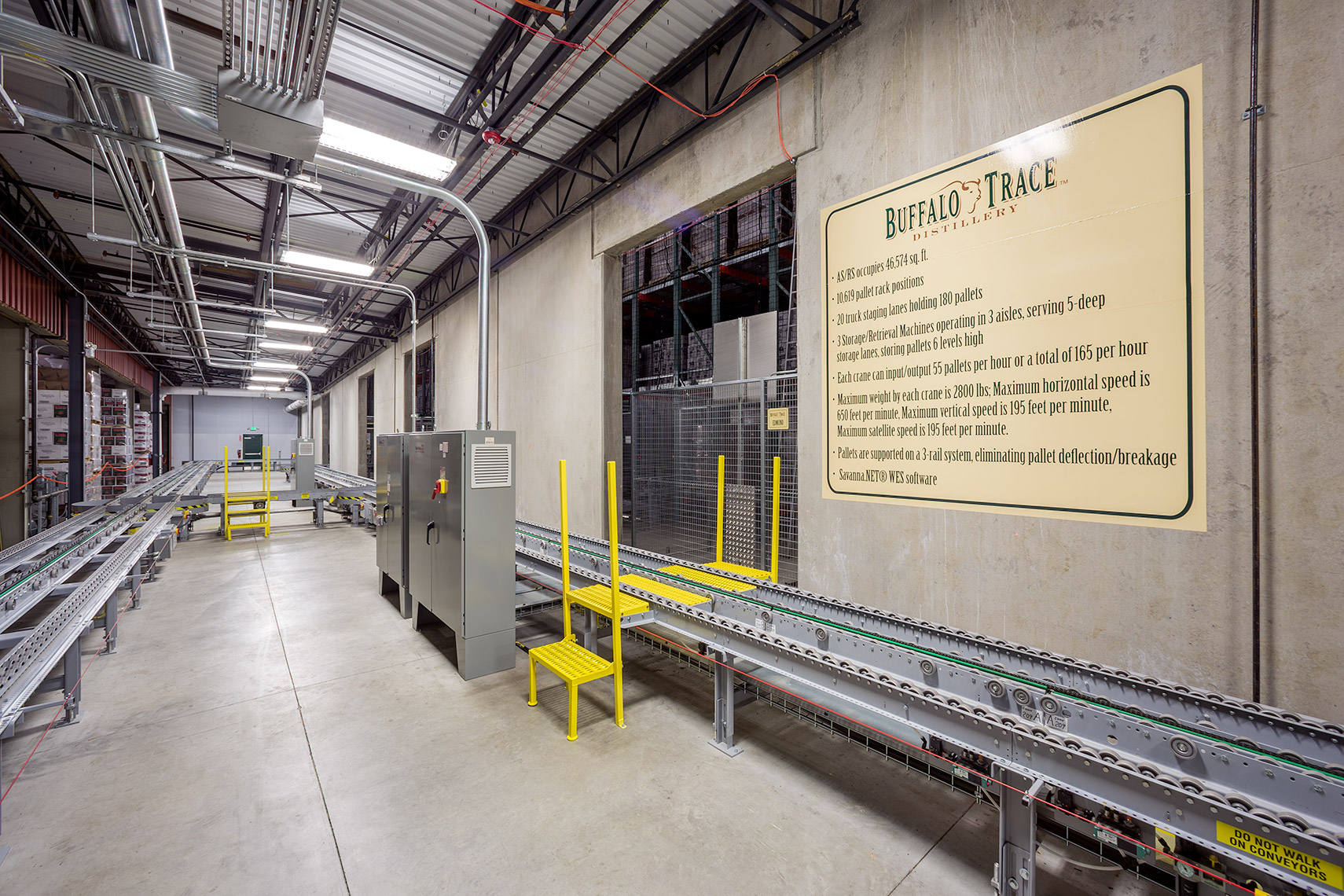 Beverage distribution automation at Buffalo Trace Distillery