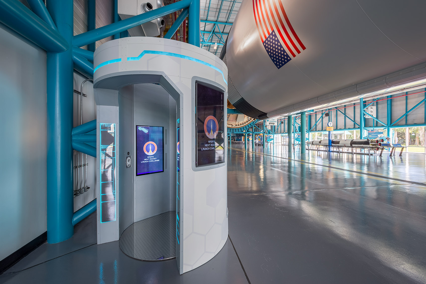 kiosk at kennedy space center