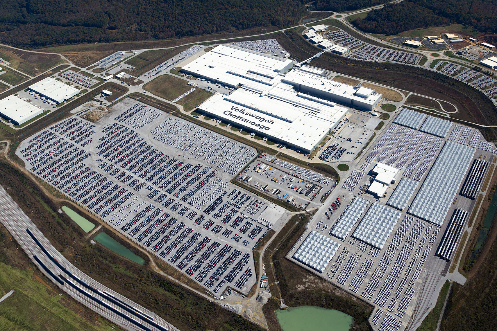 aerial overview of Volkswagen Assembly Plant