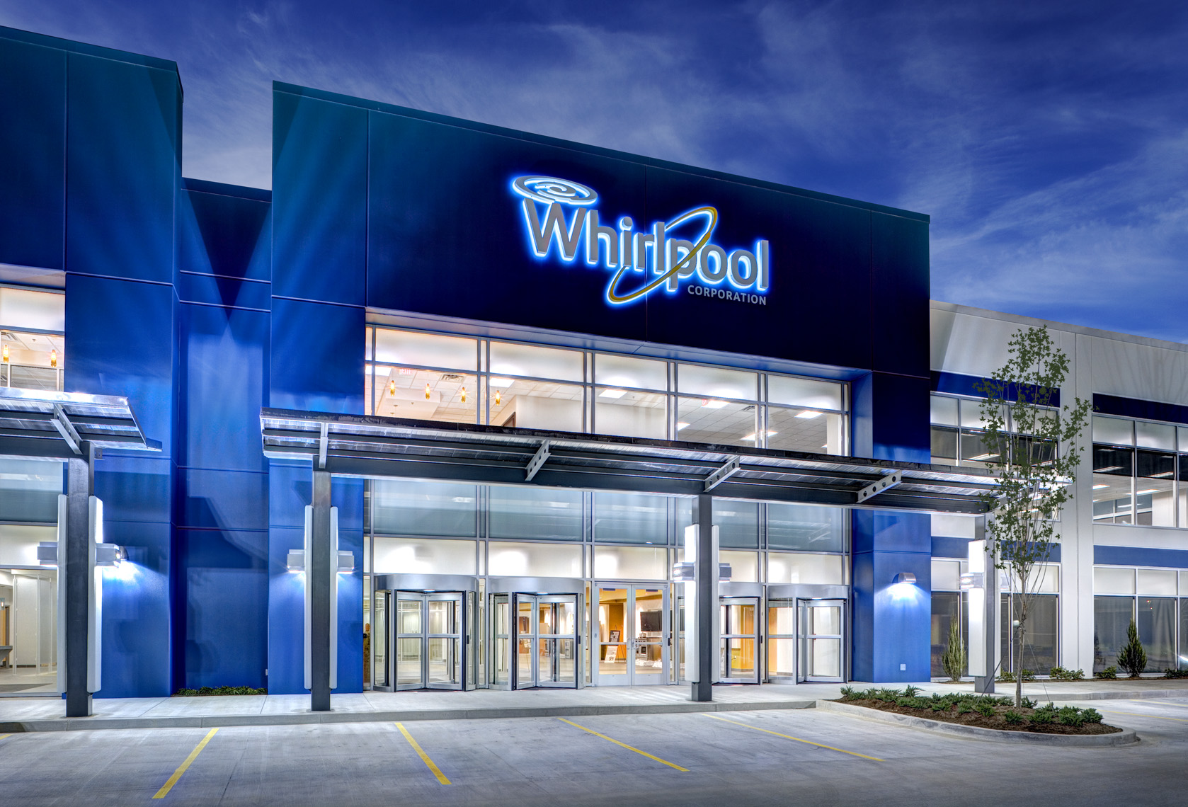 Twilight at Whirpool Corporation testing labs and distribution in Cleveland, TN