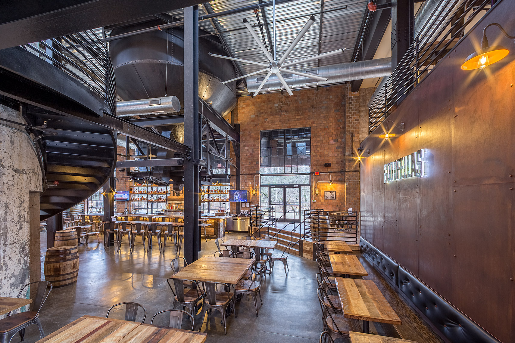 Goodfellas Pizza interior at Manchester Street Distillery District in Lexington