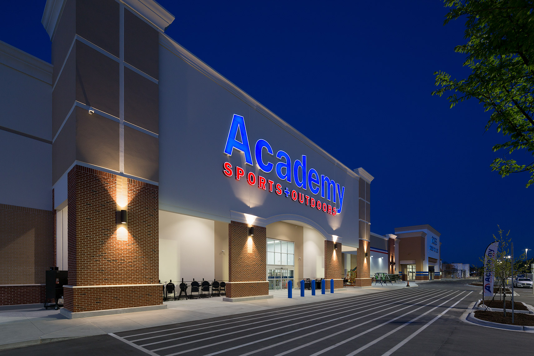 night exterior at academy sports new bern