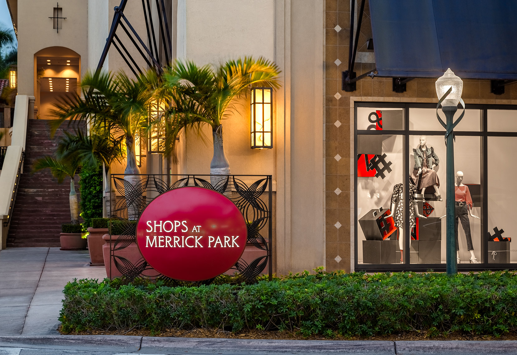 Street Entrance at Twilight, Shops At Merrick Park
