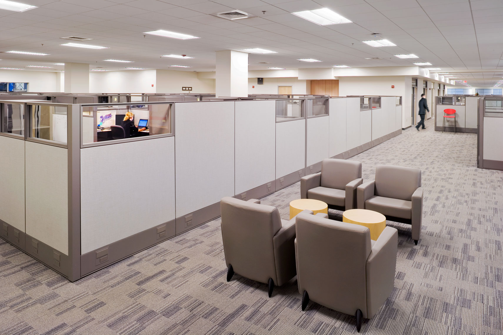 modern open office design at Siemens