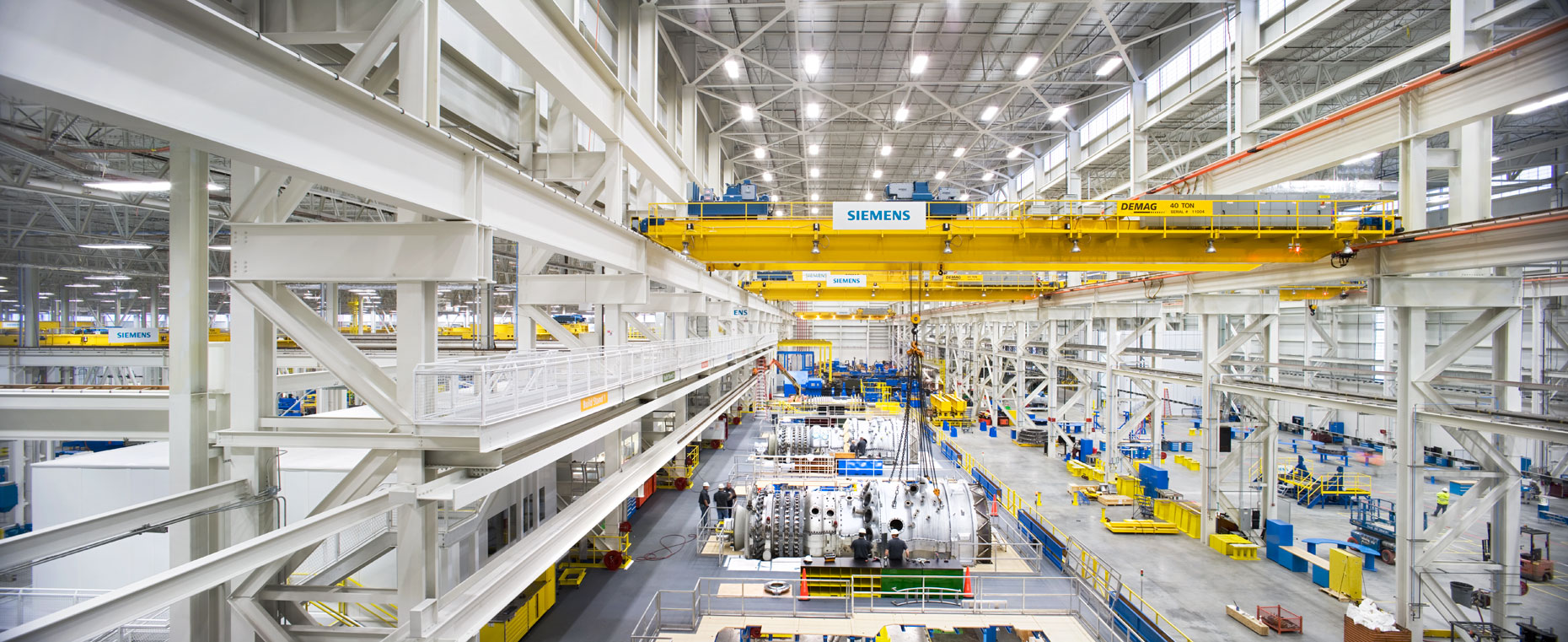Panoramic view of Siemens Gas Turbine Manufacturing facility