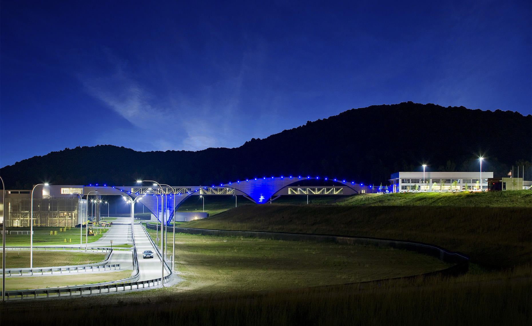 Volkswagen Chattanooga Assembly Plant test track and pedestrian bridge